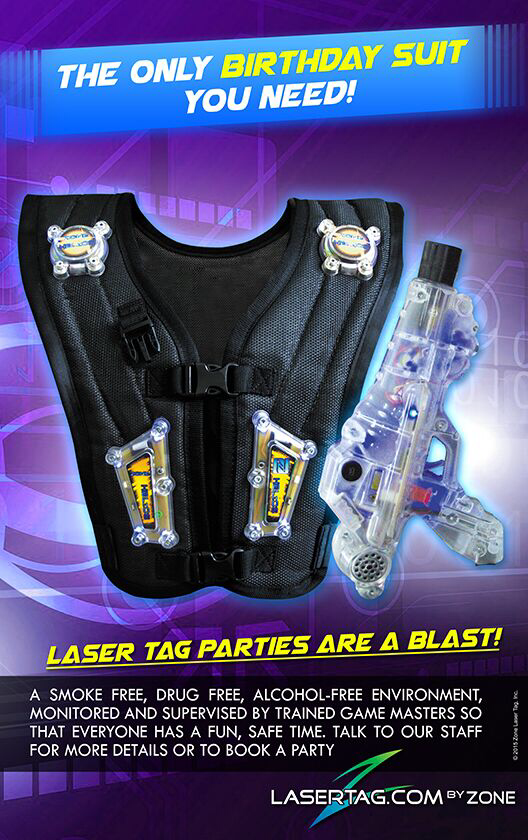 Laser tag Parties at Flippers Arcade