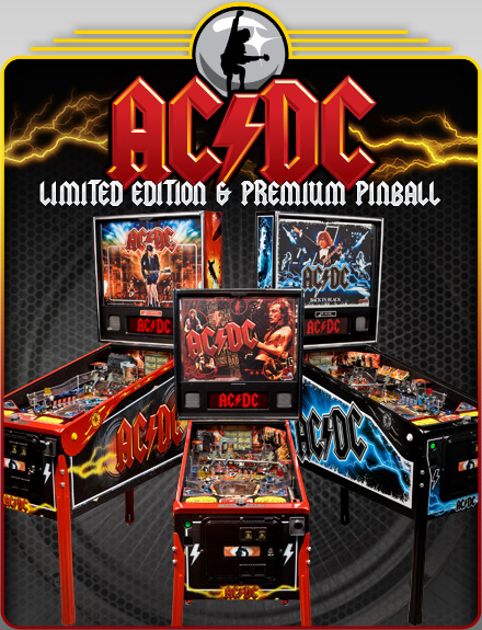 ACDC Pinball Games at Flippers Arcade Outer Banks NC