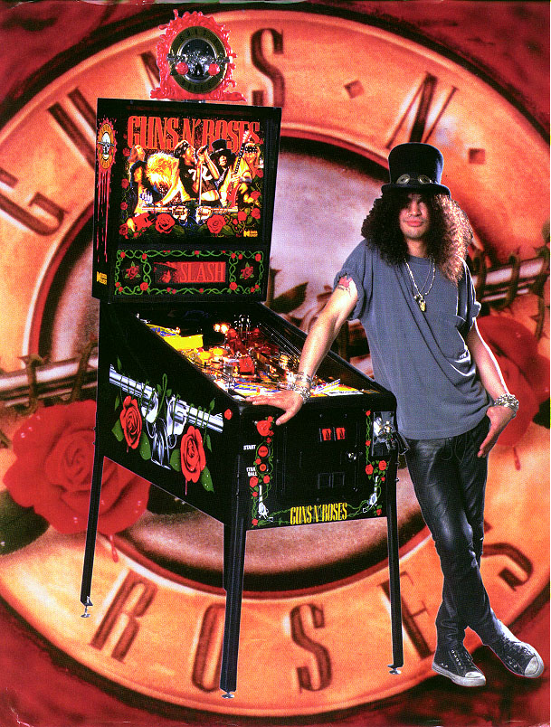 Guns N Roses Pinball Machine playing at Flippers Arcade Grandy NC of the Outer Banks