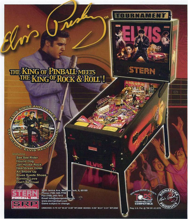 Elvis Presley Pinball Games at Flippers Aracade