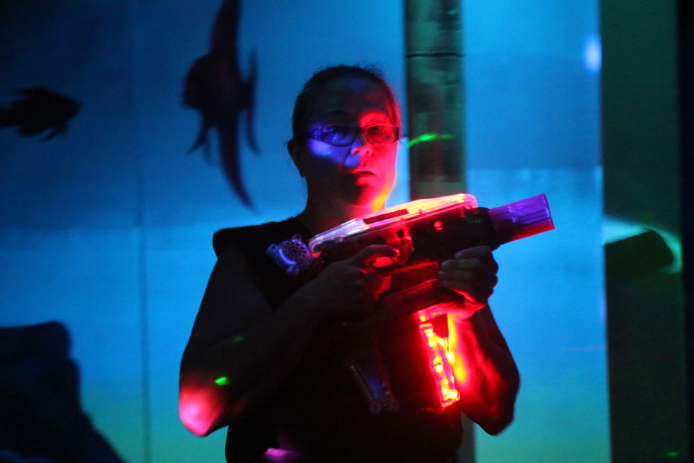 Laser Tag at Flippers Arcade Play One Get One Free!