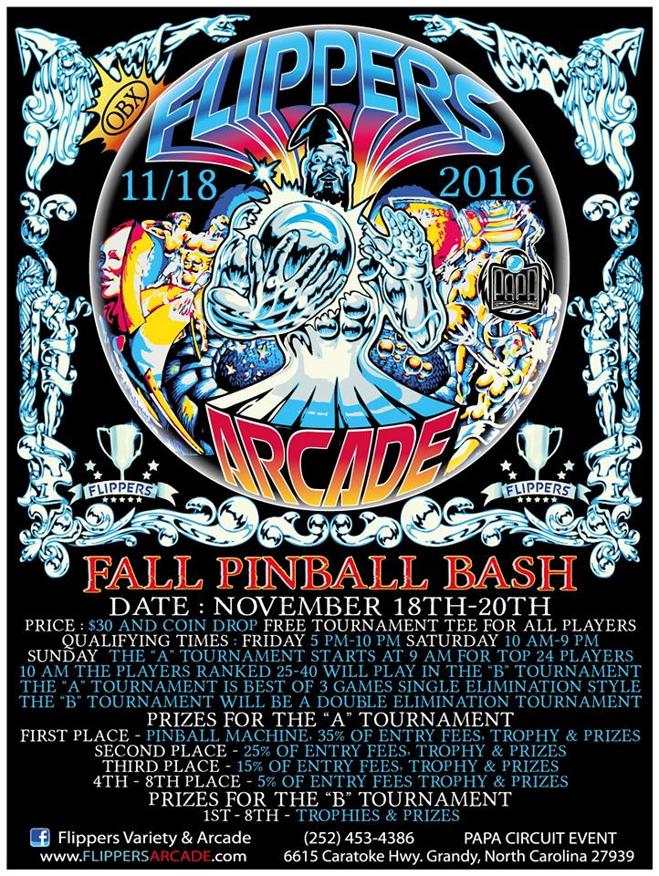 Fall Pinball Bash November 18th 2016
