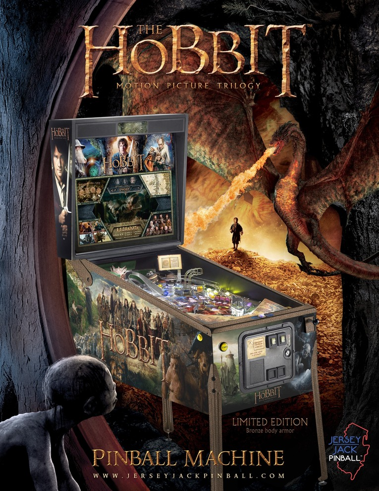 Hobbit Playfield Pinball Machine playing at Flippers Arcade